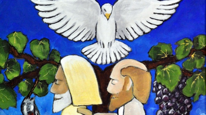In the Footsteps of Columba: 'Walking In Truth' painting
