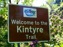 Welcome to the Kintyre Trail - sign near Stonefield Castle