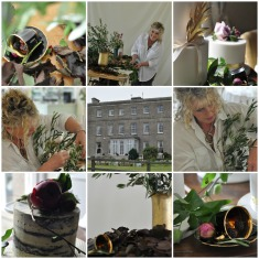 Gill working at Horetown House Inspiration Photoshoot