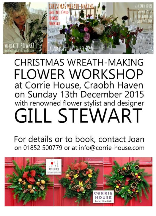 Flower Workshop at Corrie House 2015-12-13