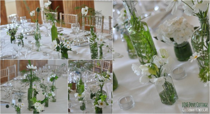 Gorgeous Flowers in Glass Jars