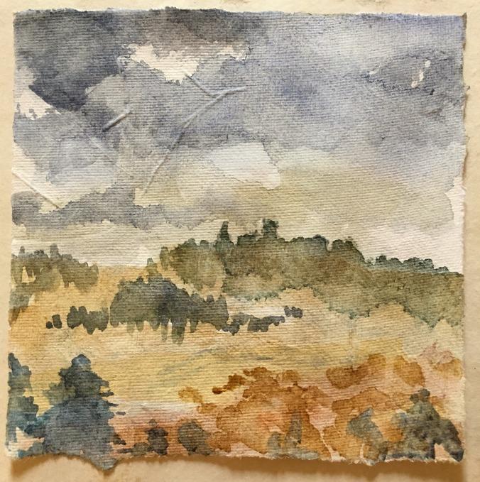 Kilmartin Glen (watercolour sketch on handmade paper)