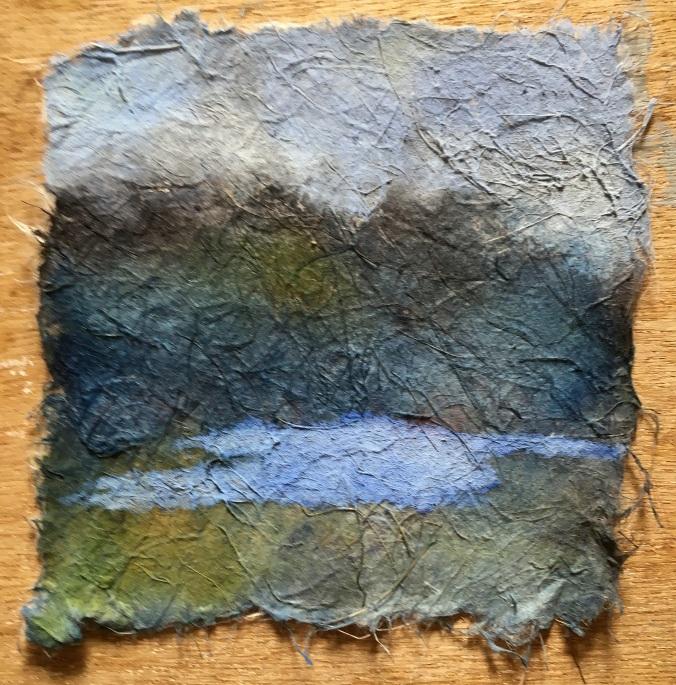 landscape watercolour on fibre paper